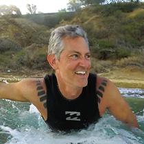 Jesse Kline surfing